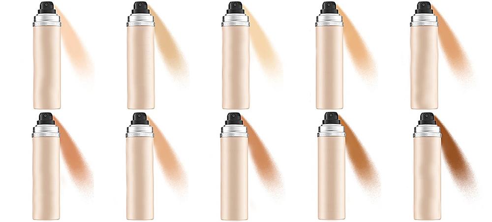 انواع اسپری فاندیشن یا زیرساز آرایش