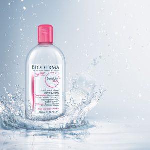 محلول پاک کننده پوست سنسیبیو H2O بایودرما 500ml