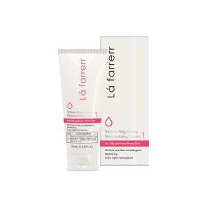 کرم مرطوب کننده و کنترل کننده چربی پوست های چرب لافارر 75ml