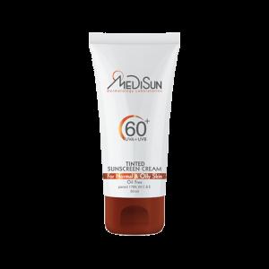 کرم ضد آفتاب رنگی مدیسان SPF60+
