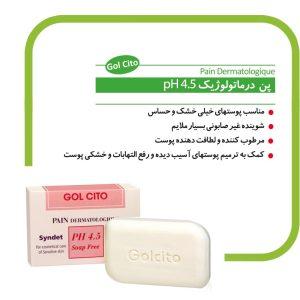 پن پاک کننده ملایم درماتولوژیک pH 4.5 گل سیتو 100g