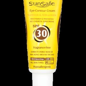 کرم ضد آفتاب دور چشم رنگی بژ طبیعی سان سیف SPF30