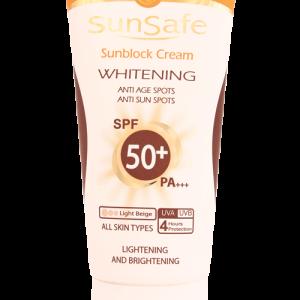 کرم ضد آفتاب روشن کننده رنگی بژ روشن سان سیف SPF50+