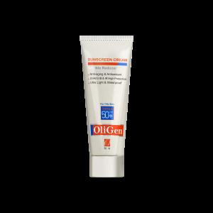 کرم ضد آفتاب رنگی پوست چرب الی ژن SPF50+