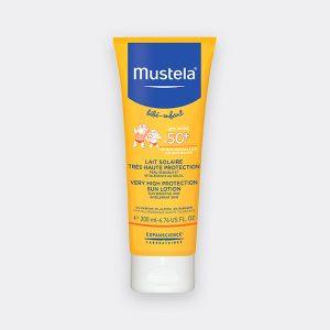 لوسیون ضد آفتاب نوزادان و کودکان موستلا SPF50+ 200ml
