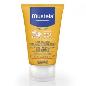 لوسیون ضد آفتاب نوزادان و کودکان موستلا SPF50+ 100ml