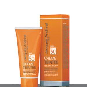 کرم ضد آفتاب رنگی پوست چرب بژ طبیعی SPF50
