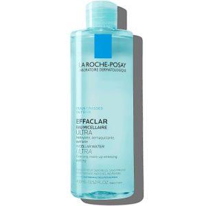 محلول پاک کننده فوق العاده قوی پوست چرب صورت و چشم میسلار واتر لاروش پوزای 400ml