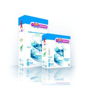 کاندوم ضد قارچ و ضد باکتری آنتیباکتریال ایکس دریم 12عددی