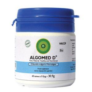 قرص مکمل غذایی غنی از ویتامین D3 و B12 آلگومد D آلگومد 60 عددی