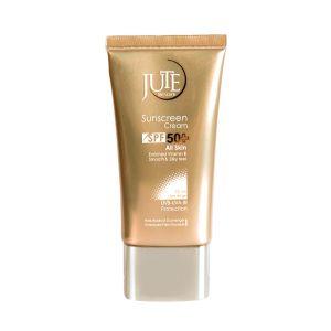 کرم ضد آفتاب رنگی بژ روشن انواع پوست ژوت SPF50+