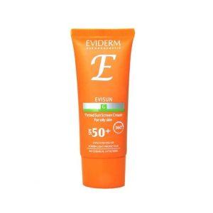 کرم ضد آفتاب رنگی بژ روشن پوست چرب اوی سان اویدرم SPF50+