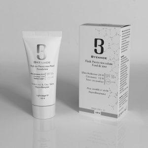فلویید ضد آفتاب مناسب پوست های خشک رنگ بژ روشن بیزانس +spf50 حجم 30ml