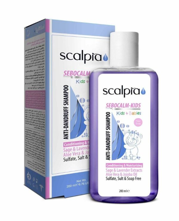 شامپو ضد شوره و نرم کننده موی بچه اسکالپیا 200ml