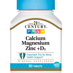 قرص کلسیم منیزیم زینک و ویتامین D3 21سنتری 90 عددی