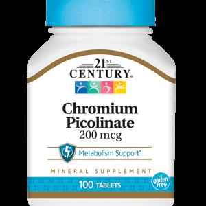 قرص تنظیم سوخت و ساز بدن موثر در کاهش وزن کرومیوم پیکولینات 200mcg 21سنتری 100عددی