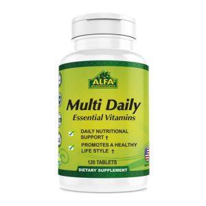قرص تقویت سیستم ایمنی بدن مولتی دیلی آلفا ویتامینز 120 عدد