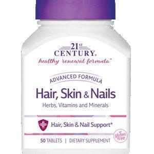 قرص حفظ سلامت و زیبایی پوست ، مو و ناخن هیر اسکین اند نیلز 21 سنتری 50 عدد