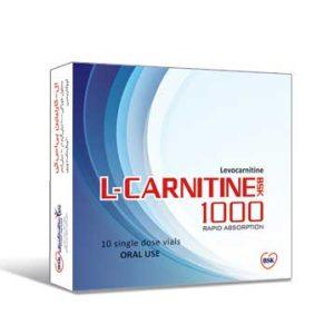 محلول خوراکی ال کارنیتین 1000 بی اس کی 10 عددی