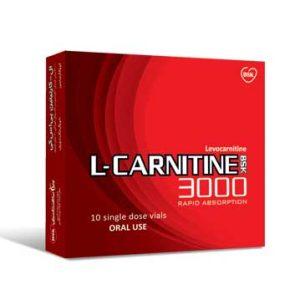 محلول خوراکی مکمل ال کارنیتین3000 بی اس کی 10 عددی