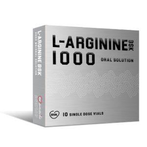 ویال خوراکی بهبود عملکرد ورزشی و افزایش استقامت ال آرژنین 1000 بی اس کی 10 عدد
