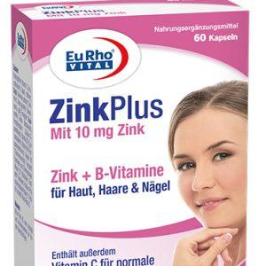 کپسول تقویت سیستم ایمنی و سلامت پوست زينک پلاس 10mg یوروویتال 60 عدد