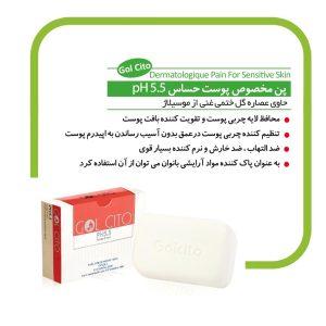پن پاک کننده مخصوص پوست حساس PH 5.5 گل سیتو 100gr