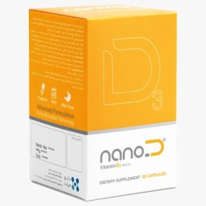 کپسول ویتامین D3 1000IU نانودی نانوحیات دارو 60 عددی