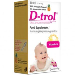 قطره خوراکی اطفال ویتامین دی ترول 400IU باطعم آناناس ویتان 30ml