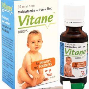 قطره خوراکی کودکان مولتی ویتامین آهن و زینک ویتان 30ml
