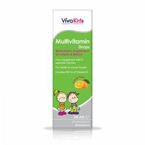قطره مولتی ویتامین با طعم پرتقال کودکان ویواکیدز 30ml