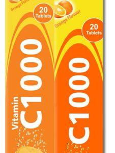 قرص جوشان تقویت کننده سیستم ایمنی ویتامین سی 1000 هلث ورث 20 عدد