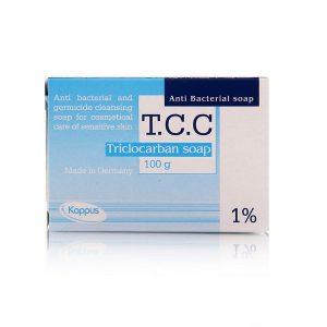 صابون آنتی باکتریال و مرطوب کننده پوست عفونی تی سی سی 1 درصد کاپوس 100gr