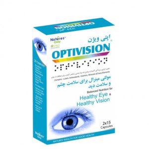 کپسول مولتی مینرال بهبود سلامت بینایی اپتی ویژن نیچرز اونلی 30 عددی