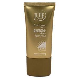 کرم ضد آفتاب بژ طبیعی انواع پوست ژوت +SPF50