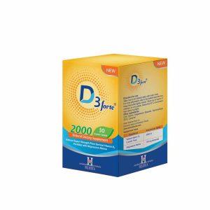 قرص ویتامین D3 فورت 2000IU هولیستیکا آرین سلامت سینا 30 عددی