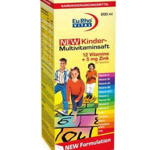 شربت افزایش قدرت سیستم ایمنی بدن کودکان کیندر مولتی ویتامین یوروویتال 200ml