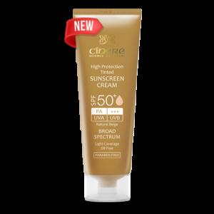 کرم ضد آفتاب رنگ بژ طبیعی فاقد چربی سینره SPF50+