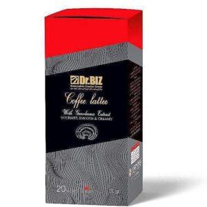 پودر قهوه کافه لاته با قارچ گانودرما دکتر بیز 20 عددی