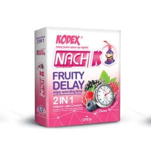 کاندوم تاخیری و میوه ای 2 در 1 کدکس 3 عددی