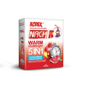 کاندوم گرم حلقوی خاردار تاخیری 5 در 1 ناچ کدکس 3 عددی
