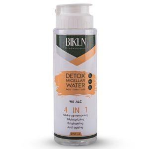 محلول دتوکس میسلار واتر پاک کننده آرایش 4x1 بیکن 200ml