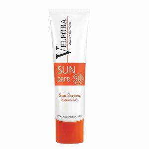کرم ضد آفتاب پوست نرمال تا خشک ولفرا SPF50+ 40gr