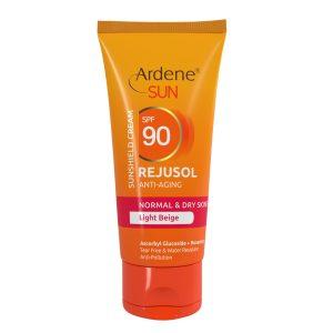 کرم ضد آفتاب و ضد چروک بژ روشن پوست معمولی و خشک رژوسول آردن SPF90