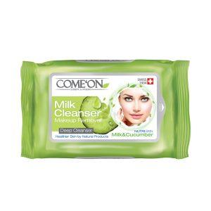 دستمال مرطوب تخصصی شیر پاک کن کامان 20 عددی