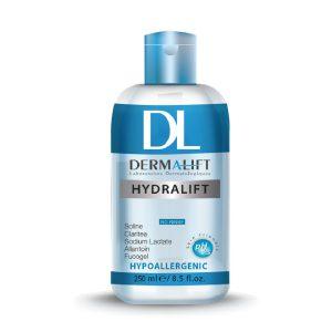 محلول پاک کننده میسلار سه کاره آرایش پوست معمولی و خشک هیدرالیفت درمالیفت 250ml