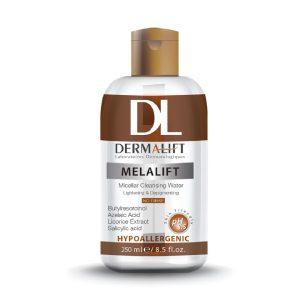 محلول پاک کننده میسلار پاک کننده آرایش و روشن کننده ملالیفت درمالیفت 250ml