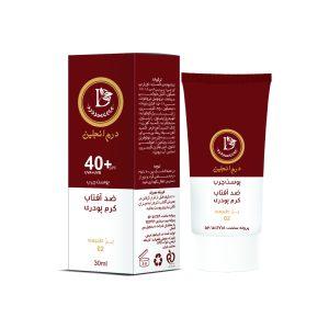 کرم ضد آفتاب بژ طبیعی پوست چرب درم انجلین SPF40+30ml