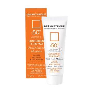فلویید ضد آفتاب بی رنگ پوست چرب و مختلط فاقد چربی درماتیپیک SPF50+ 50ml
