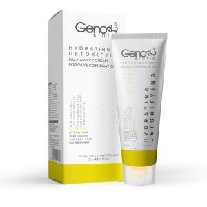 کرم رطوبت رسان و دتوکسیفای کننده صورت و گردن پوست چرب و مختلط ژنوبایوتیک 50ml